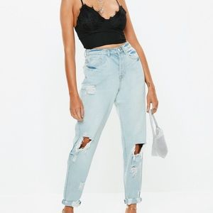 "Missguided ""Riot"" High Rise Mom Jeans"